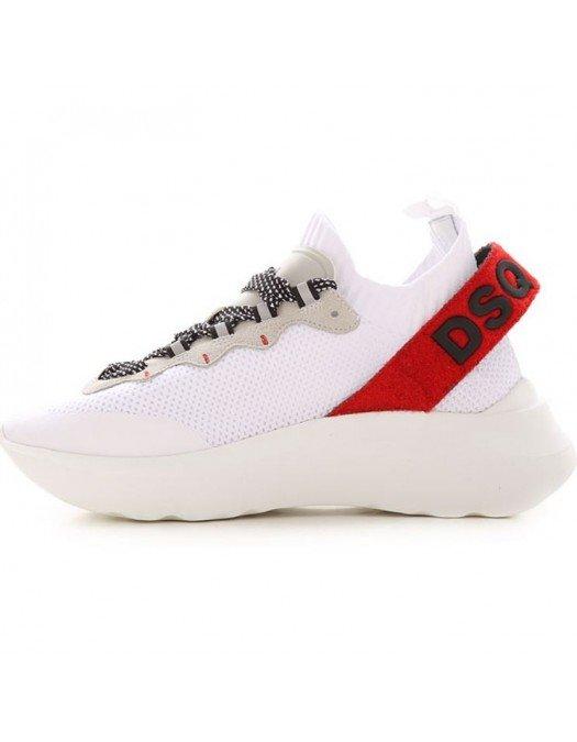 Sneakers DSQUARED2, Logo la spate, Alb - SNW009559203147M1747