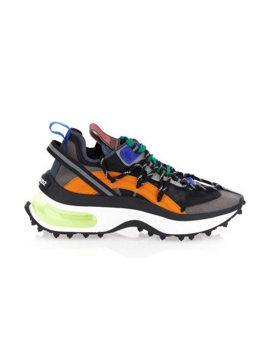Sneakers DSQUARED2, cu Talpa Gel, Grey and Orange - SNW011411703752M2061