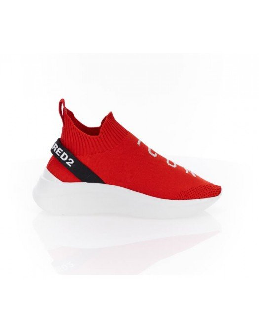 Sneakers Dsquared2, Speedster, Rosu, Icon imprimat - SNW012459203961M818