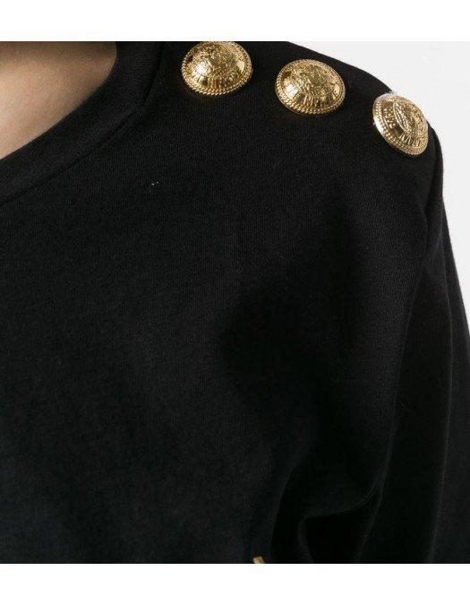 TRICOU BALMAIN, Logo auriu, Negru - UF01350I5910PA