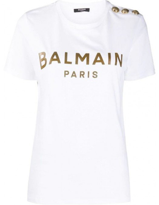 TRICOU BALMAIN, Logo Gold - UF01350I591