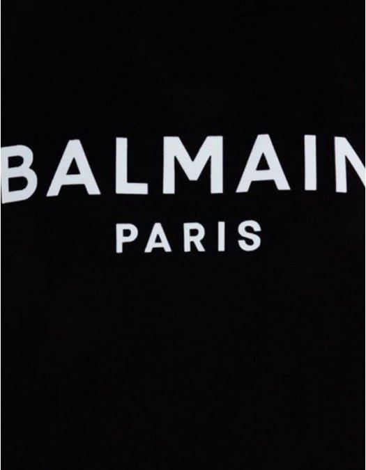 TRICOU BALMAIN, Logo Alb, Negru - UF01350I617EAB