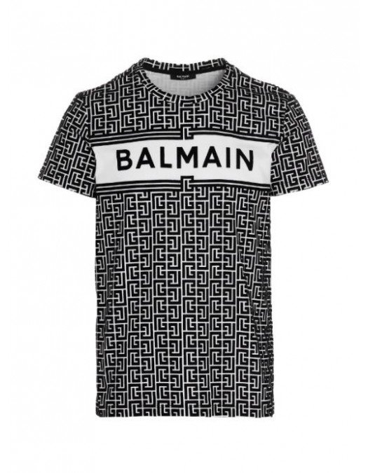 TRICOU BALMAIN, Imprimeu AllOver, Bumbac - VH0EF000B088GAB