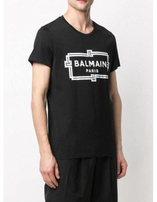 TRICOU BALMAIN, Negru, Logo Print - VH0EF000G065GAB