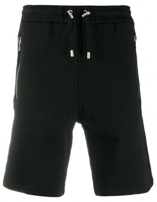 Pantaloni scurti BALMAIN, Buzunare atasate, Negru - VH1OA000B0720PA