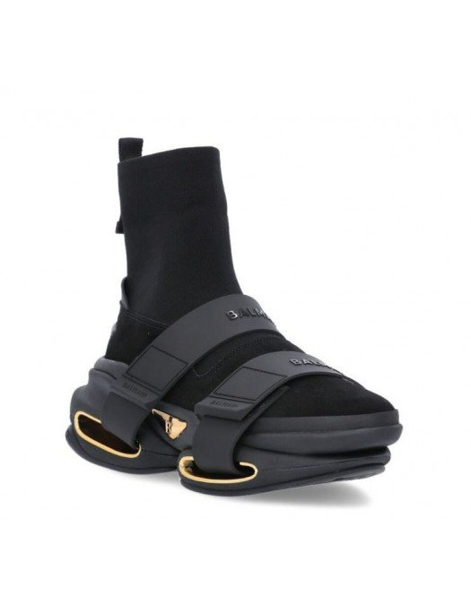 Sneakers BALMAIN, BBold high-top sneakers, All Black - VM0VH229TKSE0PA