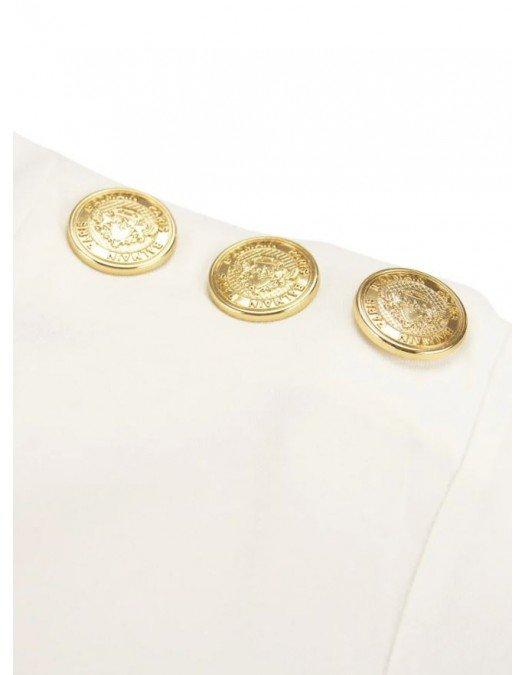 Tricou BALMAIN, Nasturi Aurii cu Logo - WF0EF005B091GAB
