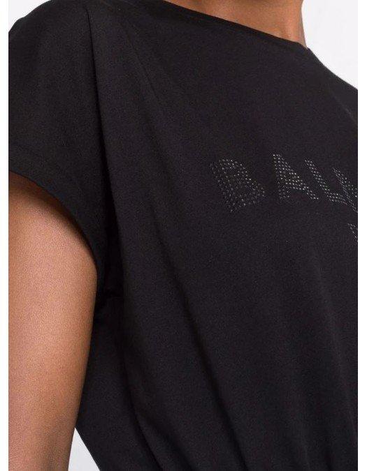Tricou BALMAIN, Silver-tone Stud Embellishment - WF0EF010B093EAP