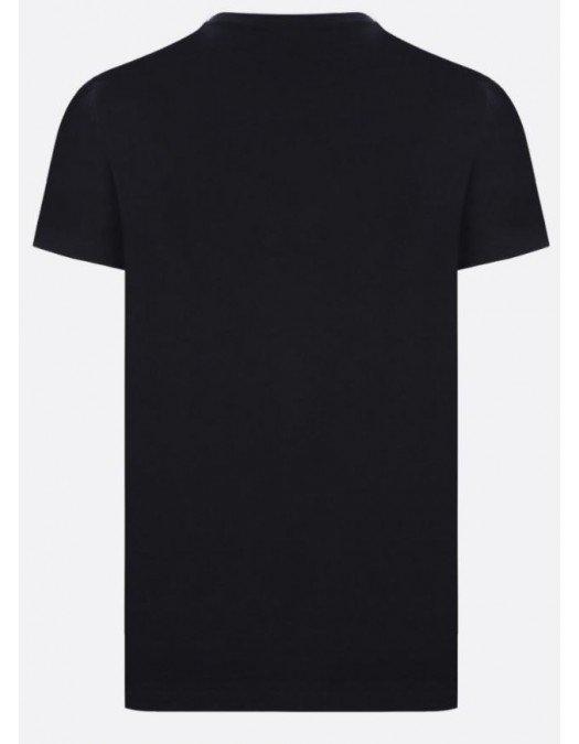 Tricou BALMAIN, Laminated Logo, Negru - WH0EF000B160EAC