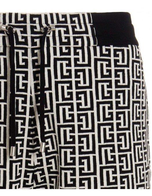 Pantaloni BALMAIN, MONOGRAM Print All Over - WH0OB067J314GFE