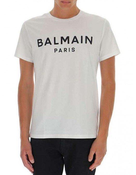 TRICOU BALMAIN,  Logo Text, Bumbac - WH1EF000B114GAB