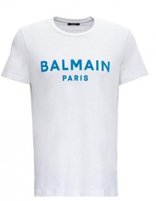 TRICOU BALMAIN,  Blue Logo Text - WH1EF000B124GFP