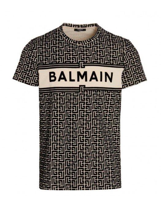 TRICOU BALMAIN, Imprimeu  Black AllOver - WH1EF000B133GFE