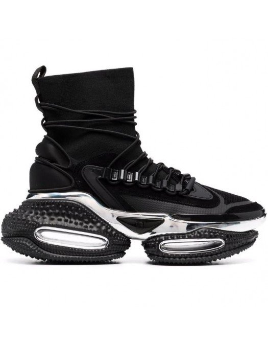 Sneakers BALMAIN, BBold high-top sneakers, Metal insertions - WM1VH265TKMS0PA