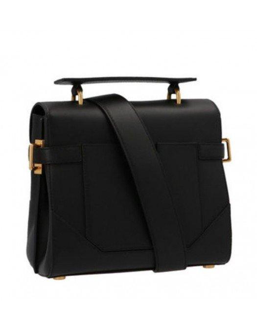 Geanta BALMAIN, Bbuzz, Black Leather - WN0DB526LVPT0PA