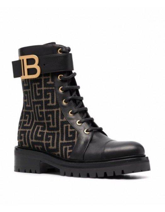 GHETE BALMAIN, Ranger Romy Ankle Boots - WN0TC502TJMLNOIR