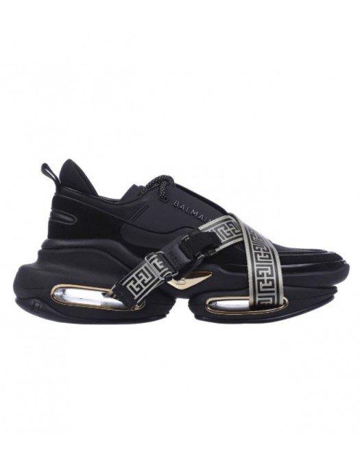 Sneakers BALMAIN, Black Silver  B Bold Low Top, Gold Insert - WN0VI683LCWM0PA