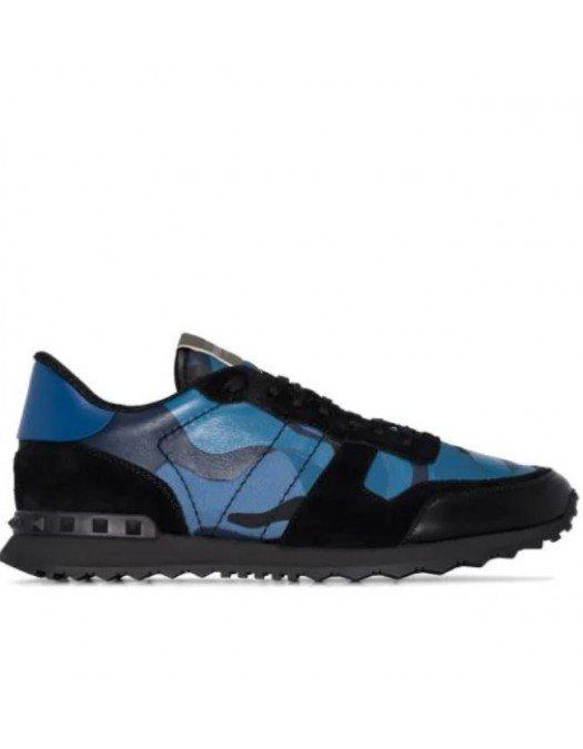 SNEAKERS VALENTINO GARAVANI Rock Runner Blue - WY2S0723TCCBLACK