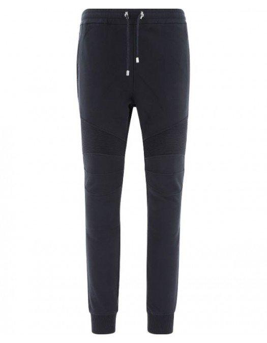 Pantaloni Balmain, Logo Alb, Bumbac - VH1OB000B071EAB