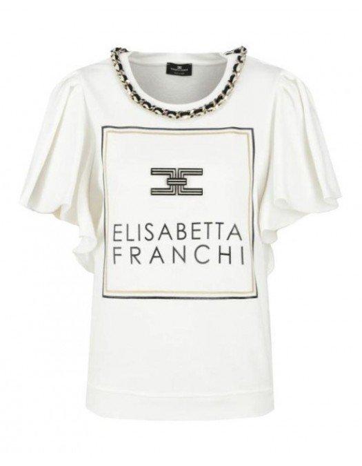 BLUZA ELISABETTA FRANCHI SS20 - MD02601E2360 - BLUZE FEMEI