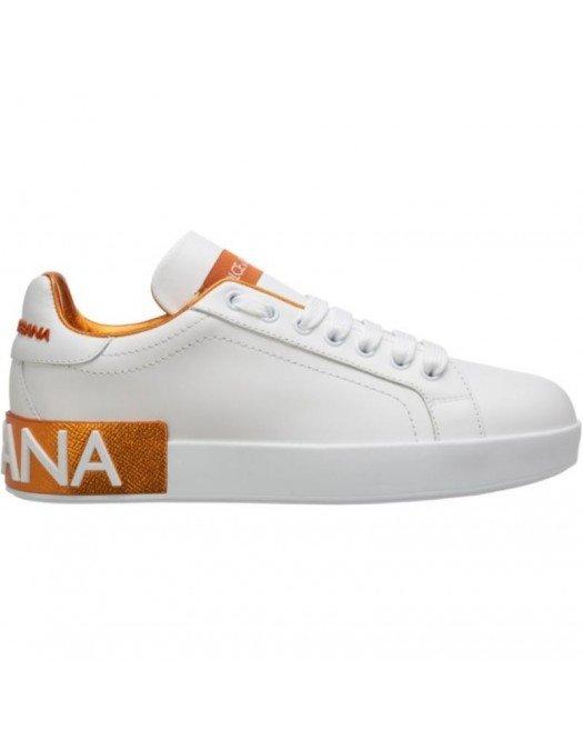 Sneakers Dolce & Gabbana, Portofino, Alb/Aramiu - CK1544AX615803123
