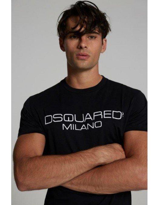 TRICOU DSQUARED2, Bumbac, Logo Milano - S74GD0899S22844900