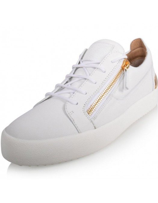 Sneakers GIUSEPPE ZANOTTI, Gold and White Frankie Steel - RM10027001